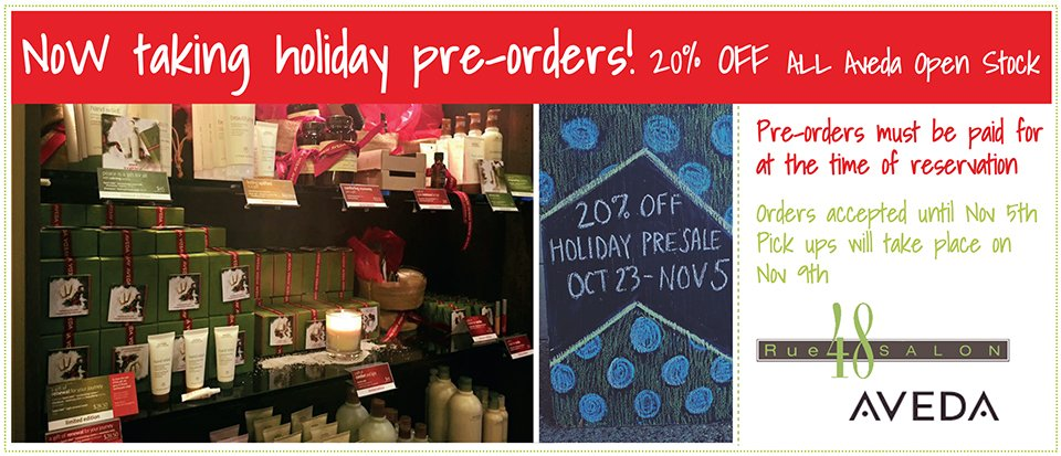 Holiday pre-orders